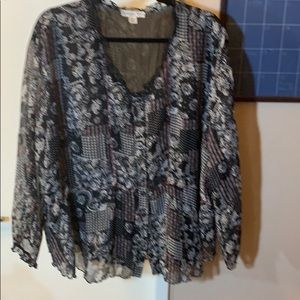 COLD WATER CREEK FLOWY BLOUSE 1x